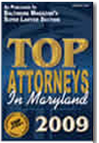 Top Attorney Maryland 2009