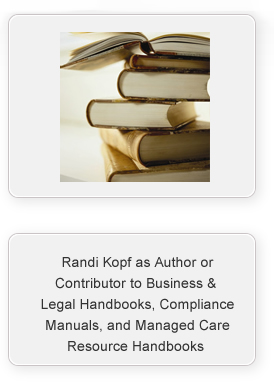 Randi Kopf Publictions and significant contributions